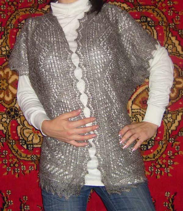 Паутинка вязание жилетка 24